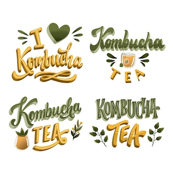 Herbata kombucha - kolekcja napisów