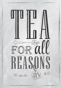 Herbata plakatowa ze wszystkich powodów węgla