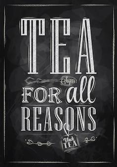 Herbata plakatowa ze wszystkich powodów