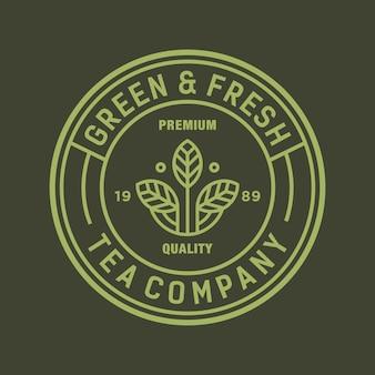 Herbata wektor logo / ikona ilustracja