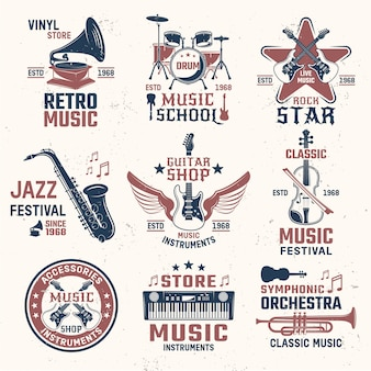 Herby w stylu retro muzyki