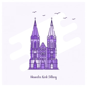 Heuvelse kerk tilberg punkt orientacyjny