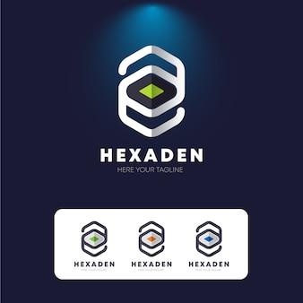 Hexagon e letter logo
