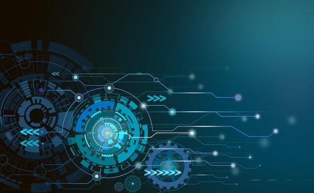 Hi-tech komputer cyfrowej telekomunikacji