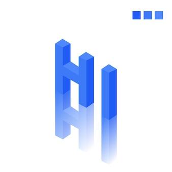 Hi tekst w nowoczesnym stylu 3d