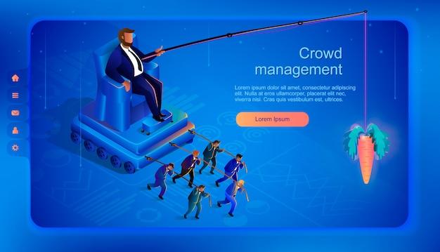 Hidden crowd management. ilustracja wektorowa.