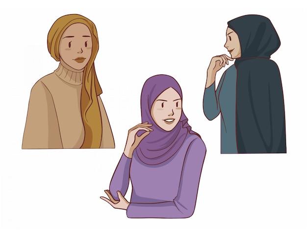 Hidżab - muzułmańska dziewczyna
