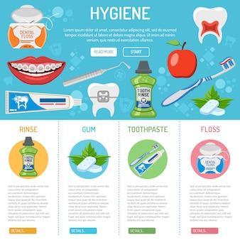 Higiena jamy ustnej i infografiki