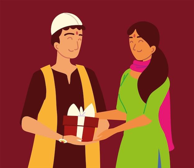 Hinduski mężczyzna i kobieta