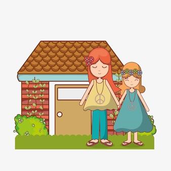 Hipisi para w ogrodzie