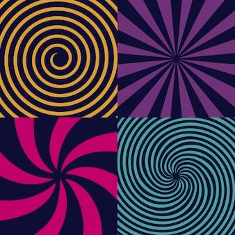 Hipnotyczna spirala psychodeliczna, kręcenie, wir.