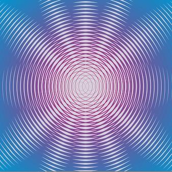 Hipnotyczny wzór geometryczny. kreatywna i elegancka ilustracja w stylu