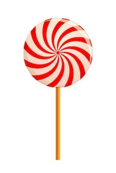 Hipnotyzujący lollipop. ilustracja na białym tle.