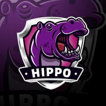 Hippopotamus head logoesport