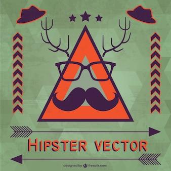 Hipster wektor szablon