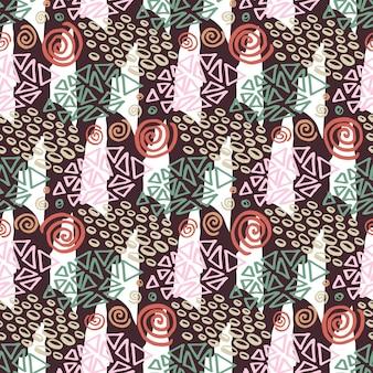 Hipster wzór z kolor tekstury. moda tło