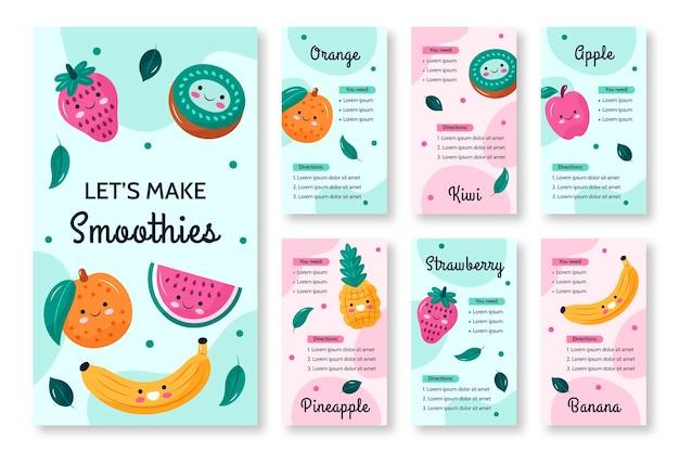 Historia na instagramie świeżych owoców