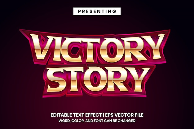 Historia zwycięstwa - edytowalny efekt tekstowy w stylu filmu z superbohatera
