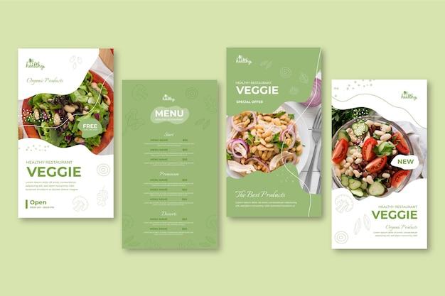 Historie instagram restauracji ze zdrową żywnością