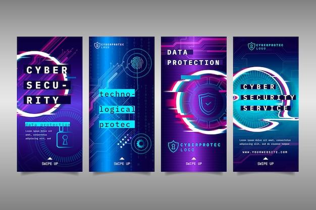 Historie na instagramie dotyczące bezpieczeństwa cybernetycznego