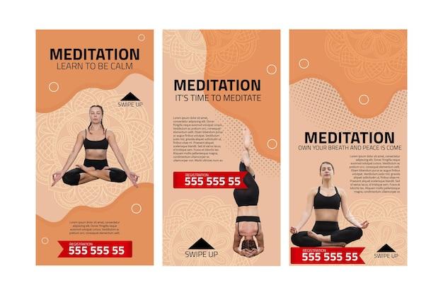 Historie na instagramie dotyczące medytacji i uważności
