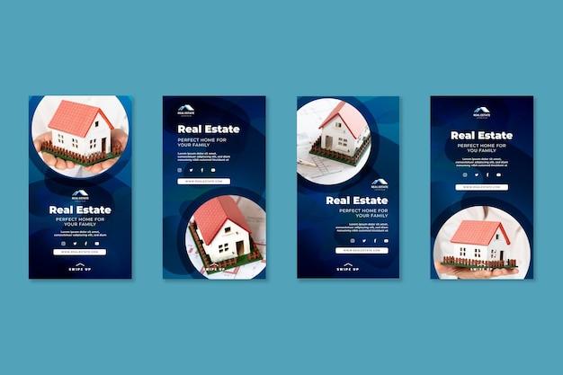 Historie na instagramie dotyczące nieruchomości