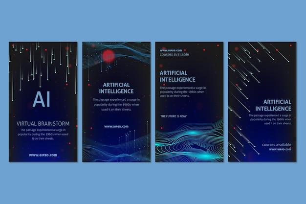 Historie na instagramie o sztucznej inteligencji