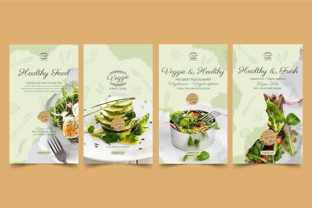 Historie na instagramie o zdrowej restauracji