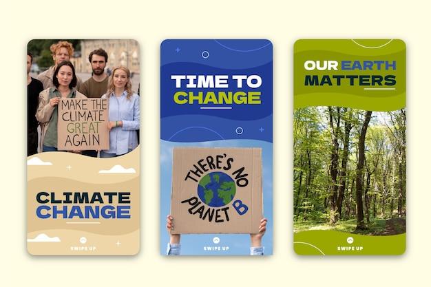 Historie na instagramie o zmianie klimatu