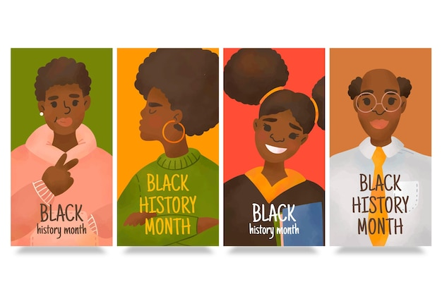 Historie na instagramie z miesiąca czarnej historii