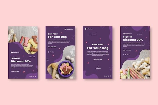 Historie na instagramie z żywnością dla zwierząt