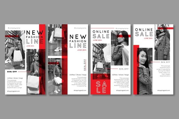 Historie o zakupach online na instagramie