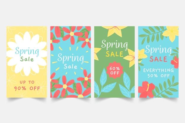 Historie wiosennej sprzedaży na instagramie