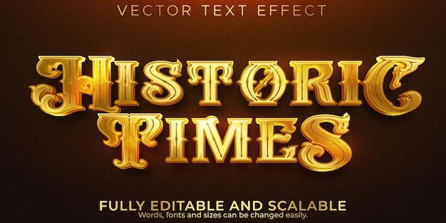 Historyczny efekt tekstowy, edytowalny stary i historyczny styl tekstu