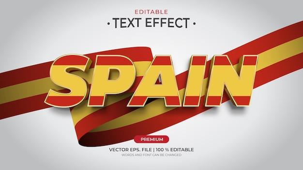 Hiszpania edytowalne efekty tekstowe
