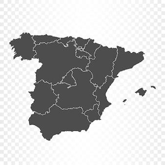 Hiszpania mapa na białym tle renderowania