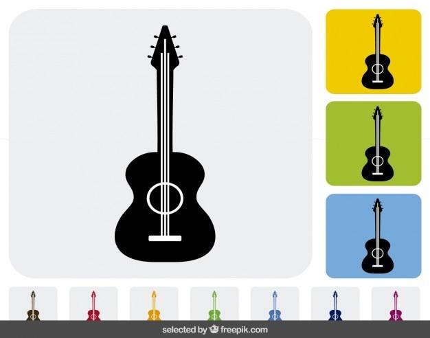 Hiszpański gitara ikony