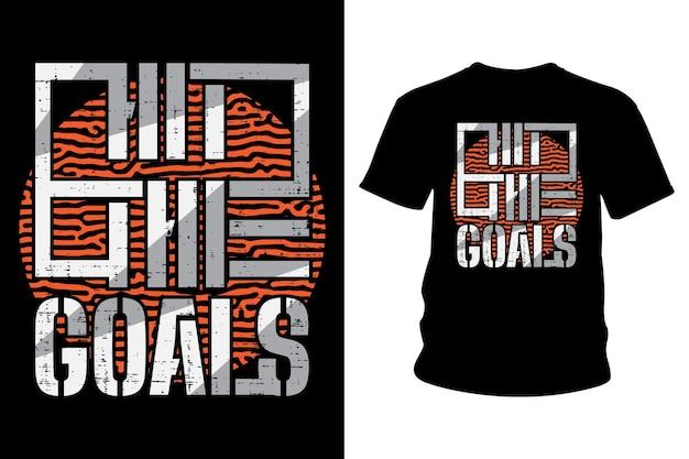 Hit the goal slogan t shirt design typografii