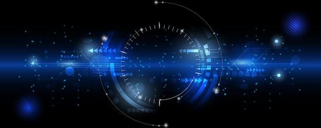 Hitech komunikacja koncepcja innowacja tło nauka i technologia cyfrowe niebieskie tło