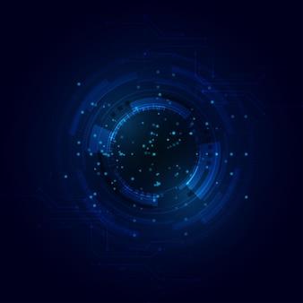 Hitech komunikacja koncepcja innowacja tło technologia cyfrowa linia niebieskie tło