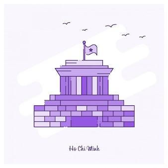 Ho chi minh landmark purple