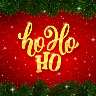 Ho-ho-ho tekst na karcie na święta bożego narodzenia