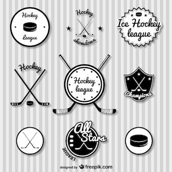 Hokej odznaki zestaw retro