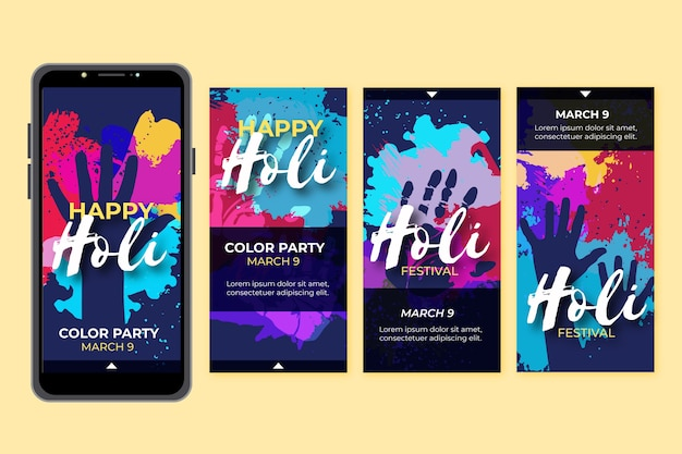 Holi festival instagram collection collection