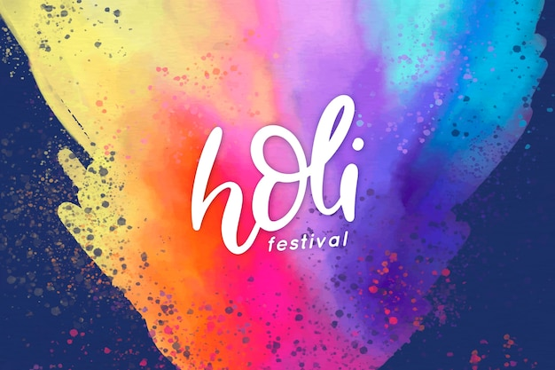 Holi festiwal akwarela eksplozja kolorów
