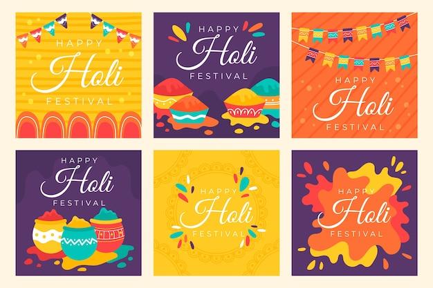 Holi festiwal instagram koncepcja kolekcji post