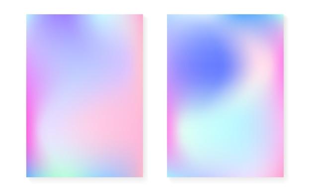 Holograficzna okładka z hologramowym tłem gradientowym.