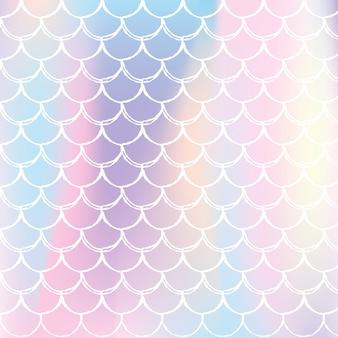 Holograficzna skala tło z gradientową syreną.