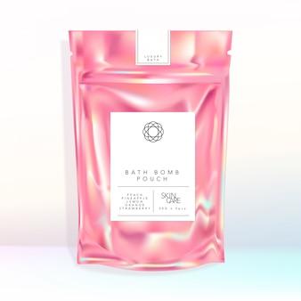 Holograficzne opalizujące zamykane etui saszetka jedzenie przekąska kąpiel bomba fizzers sól kosmetyki pielęgnacja skóry artykuły papiernicze prezent aromaterapia modne akcesoria modne eleganckie opakowanie