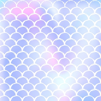 Holograficzne syrenka bezszwowe tło wzór z gradientową skalą. jasny kolor